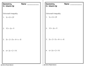 Inequalities in Triangles Lesson