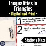 Inequalities in Triangles Activity   Digital and Print