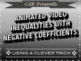 Inequalities with negative coefficients animated video