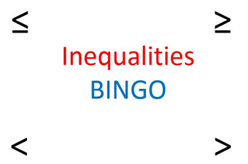 Inequality BINGO