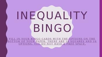 Inequality BINGO Powerpoint