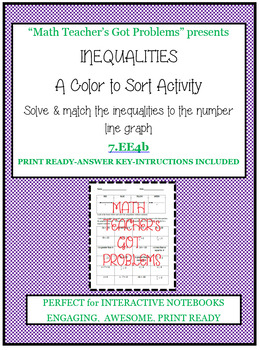 Inequalities Color to Sort-Expressions & Equations EE4b.