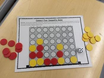 Inequality Connect Four Game