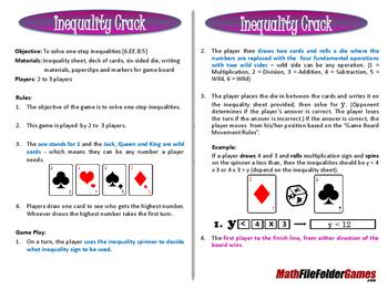 Inequality Crack (Solve One-Step Inequalities Game)