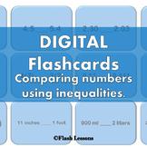 Inequality Digi Flashcards {NO PREP}