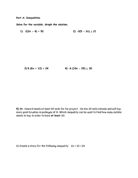 Inequality/Equation Practice