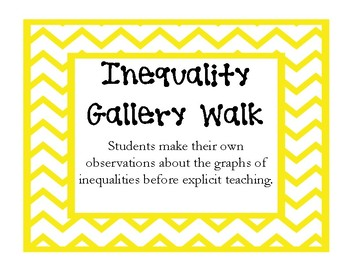 Graphing Inequalities Gallery Walk