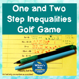 One and Two Step Inequalities Math Game