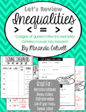 Inequality Guided Notes on signs, graphing, 1/2 step