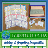 Solving and Graphing Inequalities - Foldable and Scavenger Hunt