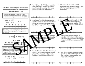 Inequality Multiplication & Division Mini Lessons: Solve, Graph, Word Problems