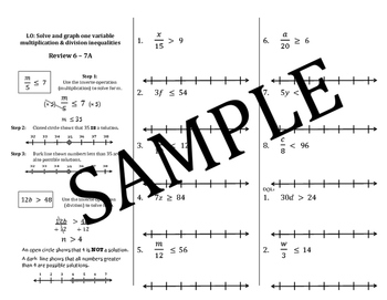Inequality Multiplication & Division Mini Lessons: Solve,