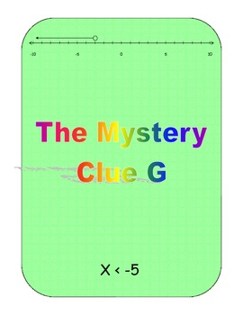 Inequality Mystery Math Scavenger Hunt - Find The Thief Common Core Fun Activity