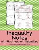 Inequality Notes with Positives and Negatives