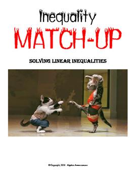 Inequality Partner Worksheets: Match-Up
