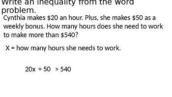 Inequality Review Questions/Game