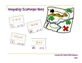 Inequality Scavenger Hunt