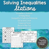 Inequality Stations Solving One Step Inequality Stations