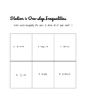 Inequality Stations or Worksheet