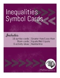 Inequality Symbol Card Set (4.NBT.A, 5.NBTA, 4.NFA.A.2, 6.