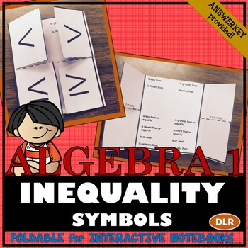 Translating Inequality Symbols Foldable