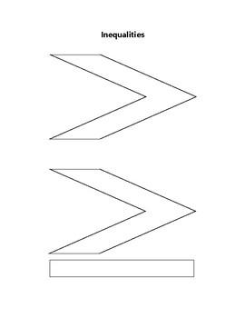 Inequality Symbols Graphic Organizer