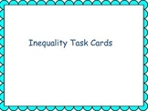 Inequality Task Cards