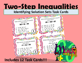 Inequality Task Cards | Identifying Solution Sets for Two-Step Inequalities