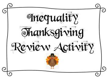 Inequality Thanksgiving Review