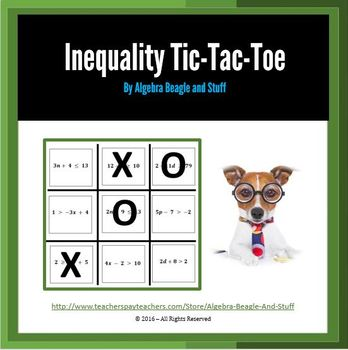 Inequality Tic Tac Toe Game