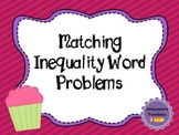 Inequality Word Problem Matching/Sort Task Cards