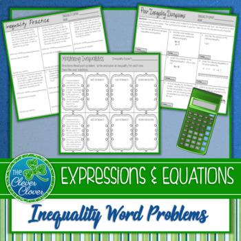 Inequality Word Problem Practice - 7.EE.4b
