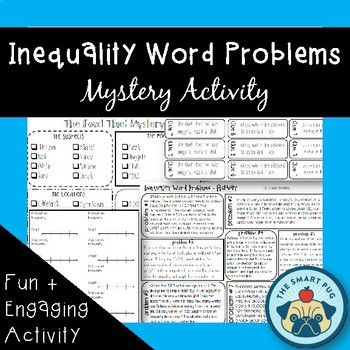 "Inequality Word Problems - Mystery ""Food Thief"" Activity"