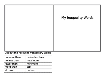 Inequality Word Sort