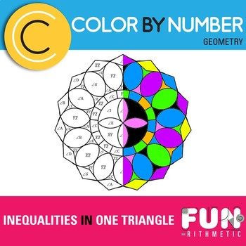 Inequalities in One Triangle Color by Number