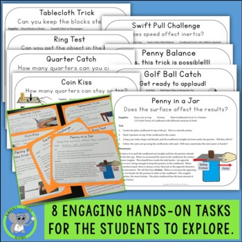 Inertia Exploration Task Cards:  Discover the 1st Law of Motion