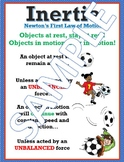 Inertia Newton's First Law Anchor Chart