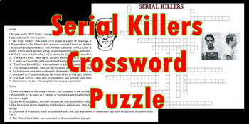 Infamous Serial Killers Crossword Puzzle