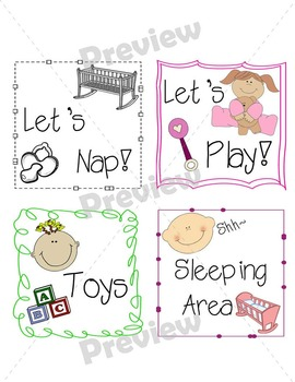 Infant Classroom Labels