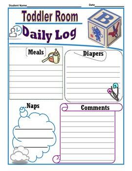 Toddler Daily Log Template
