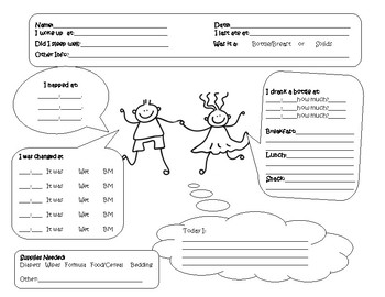 Infant Daily Sheet