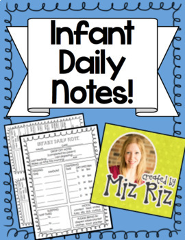 Infant Daycare Daily Notes!