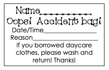 Daycare Accident Notes!