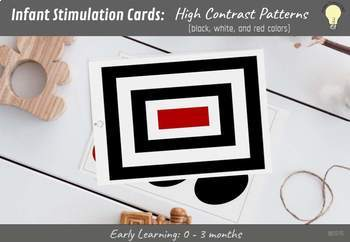 Infant Intellectual Growth Stimulating Flashcards with High Contrast Patterns