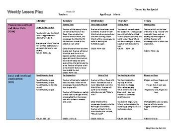 Infant Lesson Plans Worksheets Teaching Resources Tpt