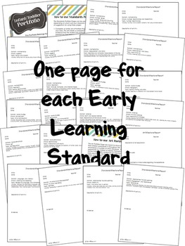 Infant Toddler Standards Portfolio Pages - Editable
