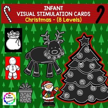 Infant Visual Stimulation Cards - Christmas (8 Levels)