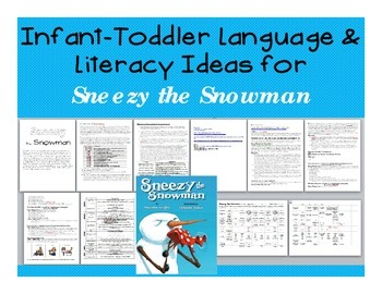 Infant and Toddler Language and Literacy Activities for Sn