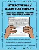 Infant and Toddlers lesson plan with Excel Formulas
