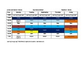 Infants Timetable with allocated Aistear time